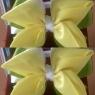 Жёлто-белый бантик