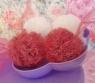 Бело-красные шарики
