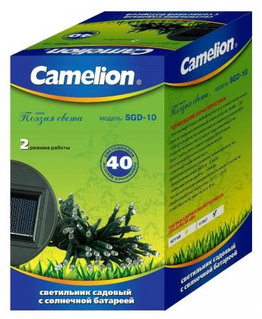 """Светильник с солнечной батареей Camelion SGD-10 """"Гирлянда"""" (40LED)"""