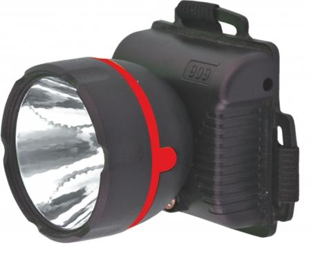 Фонарь Ultraflash 909LED1 (фонарь налобн, черный, 1LED, 1 реж, 3XR6, пласт, коробка) 1/100