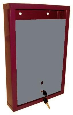 Почтовый ящик металлический 390х260х60 бордово-серый