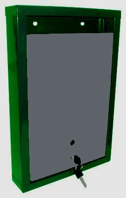 Почтовый ящик металлический оцинкованный 390х260х60 зелёно-серый