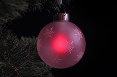 Гирлянда-подвеска GM3307-26 шар из красно матового стекла