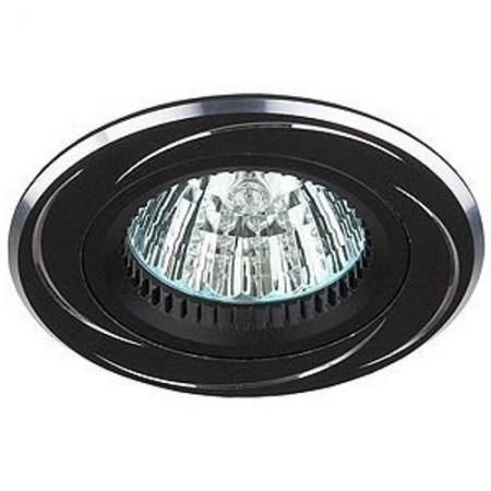 KL34 AL/BK Светильник ЭРА алюминиевый MR16,12V, 50W черный/хром (10/50/2400) (литые)