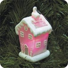 Стеклянный Дом с подсветкой  GM3135-4 RGB, декорир  6х5.6х10