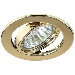ST2A GD Светильник ЭРА штампованный поворотный MR16,12V, 50W золото (5/100/2400),(Штампованные)