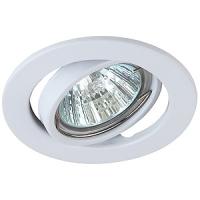 ST2A WH Светильник ЭРА штампованный поворотный MR16,12V, 50W белый (10/100),(Штампованные)