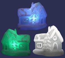 Стеклянный Дом с подсветкой  GM3215-8 RGB, декорир 7.5х5х7.2