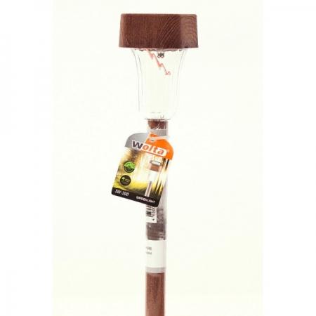 Светильник на солнечной батарее (в деревянном стиле)
