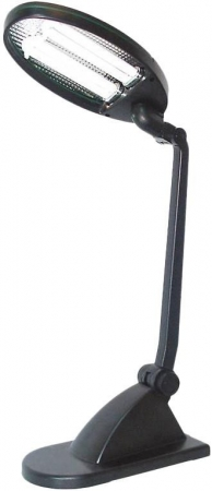 Светильник настольный Camelion KD-021 C02  черный, 230V 2х9W