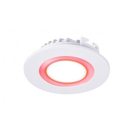 Jazzway светодиодная  круглая панель PPL-R 180140 (12031) 12W/4W 6500K red 4pin