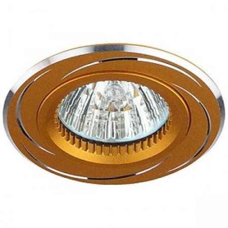 KL34 AL/GD Светильник ЭРА алюминиевый MR16,12V, 50W золото/хром (10/50/2250), литые