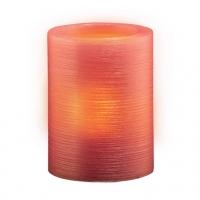 Свеча светодиодная восковая  LED JAZZway CL1-E34Rs (розовый св.)