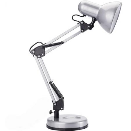Светильник настольный Camelion KD-313 С03 серебро 230V 60W