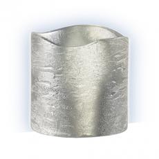 Свеча светодиодная восковая  LED JAZZway CL4-E30sv (серебро)