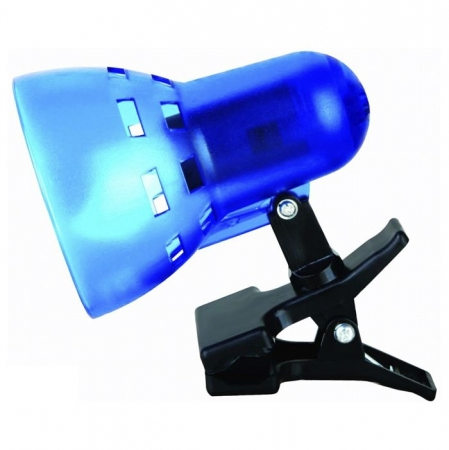 Светильник прищепка Camelion KD-304 C23 синий п/прозрачн. б/лампы 230V 40W
