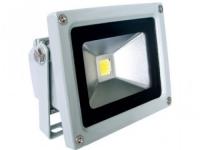 Прожектор светодиодный Camelion LFL-10-CW C09  серый (10Вт, 230В, 6500K- холодный белый)