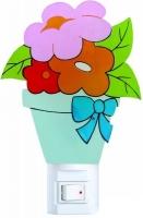 """Ночник Camelion NL-112 """"Цветы"""" (светодиодный ночник с выключателем, 220V, 0.4W)"""