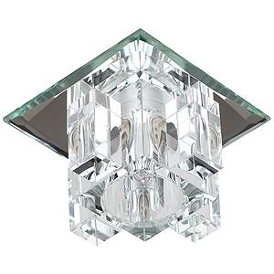 "DK2 SL/WH Светильник ЭРА декор ""хрустальнй куб с вертик столб."" G9,220V, 40W, (декоративный)"