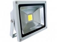 Прожектор светодиодный Camelion LFL-20-CW C09  серый (20Вт, 230В, 6500K- холодный белый)