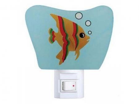 """Ночник Camelion NL-113 """"Рыбка"""" (светодиодный ночник с выключателем, 220V, 0.4W)"""