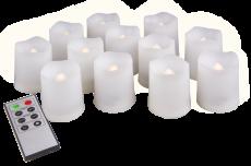 Свечи светодиодные восковые  LED JAZZway TG-SET12 (компл. 12шт)