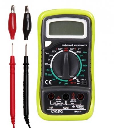 Мультиметр (вольтметр+амперметр+тестер) ФAZA цифровой MAS838