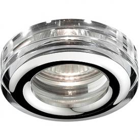 WR3 CH/SL Светильник ЭРА влагозащищенный MR16,12V/220V, 50W хром/серебро