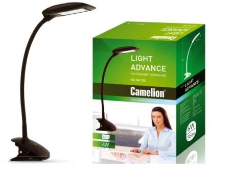 Светильник настол. с прищепкой Camelion KD-768 C02 черный LED(6 Вт, 230В,сенсорн. вкл-е ,3 ур. ярк.)