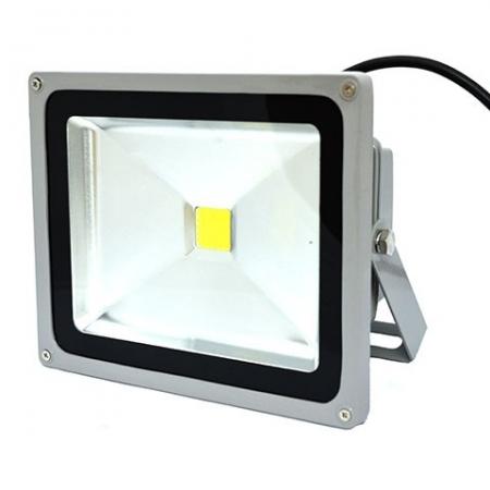 Прожектор светодиодный Camelion LFL-30-CW C09  серый (30Вт, 230В, 6500K- хол