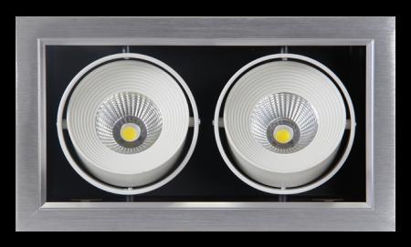 Светильник Jazzway PSP-S 112  2x9W 4000K 24° GREY Карданный IP40