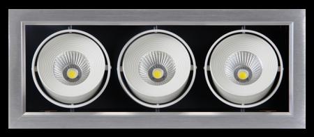 Светильник Jazzway PSP-S 113  3x9W 4000K 24° GREY Карданный IP40