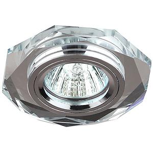 DK5 СH/SL Светильник ЭРА декор стекло многогранник MR16,12V, 50W, GU5,3 зеркальный/хром(декоративный)