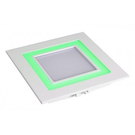 Jazzway светодиодная  квадратная панель PPL-S 180140 (12031) 12W/4W 6500K green 3pin