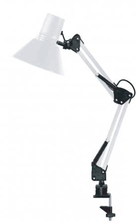 Светильник струбцина 220В, 40Вт, E27 белый TDM