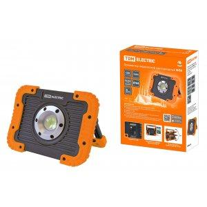 Прожектор переносной светодиодный ФП8, 10 Вт, 900 лм, Li-Ion 3,7 B 3 A*ч, USB, TDM 1/20