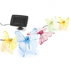 Cветильник на солнечной батарее ЭРА SL-PL600-BTF2 пластик, прозрачный, длина гирлянды - 600