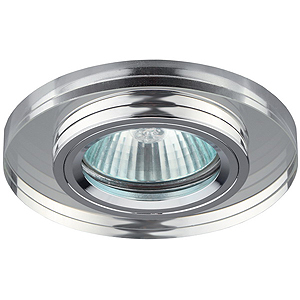 DK7 CH/WH Светильник ЭРА декор стекло круглое хром/зеркальный (5/50/1750)(декоративный)