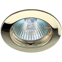 KL1 GD Светильник ЭРА литой простой MR16,12V, 50W золото (5/100/2100)(литые)