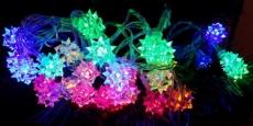 Гирлянда ламповая LD030M-FL Электрогирлянда Цветы внутр, 30 разноцв LED, 3 м