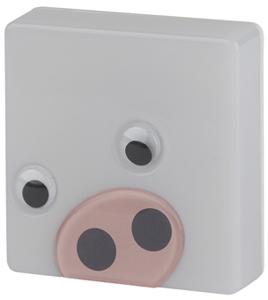 Ночник ЭРА  NN-631-LS-P розовый