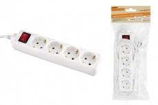 Удлинитель народный УН04В выключатель, 4 гнезда, 1,5метра, с/з, ПВС 3х0,75мм2  10А/250В