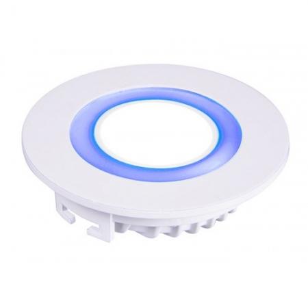 Jazzway светодиодная  круглая панель PPL-R 12085 (12031) 6W/2W 6500K blue 3pin