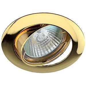 KL1A GD Светильник ЭРА литой простой пов. MR16,12V, 50W золото (100/1400)(литые)