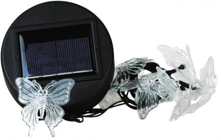 """Светильник с солнечной батареей Camelion SGD-13 """"Гирлянда бабочки"""" (10LED)"""