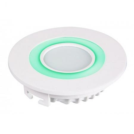 Jazzway светодиодная  круглая панель PPL-R 12085 (12031) 6W/2W 6500K green 3pin