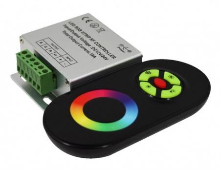 Контроллер RGB  ZC-3000RF BL   (черный) 12/24V 144/216Вт