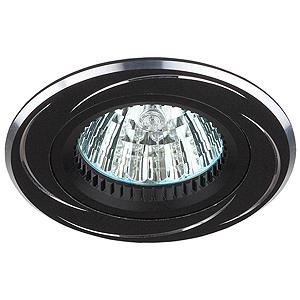 KL33 AL/BK Светильник ЭРА алюминиевый MR16,12V, 50W черный/хром (50/2400), литые
