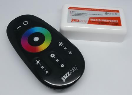 Контроллер RGB PRC-4000RF BL (черный)   12/24V 216/432Вт
