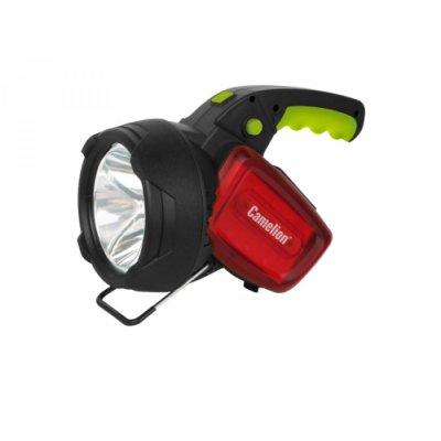 Фонарь Camelion LED56334 (аккум., карбон, 3W CREE+12LED+12redLED, 5В 4А-ч, пластик, коробка) 1/6